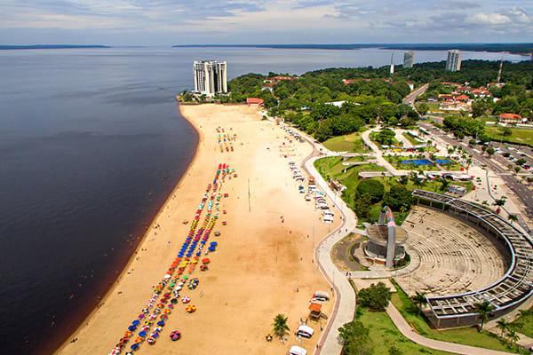 Manaus beach rio negro