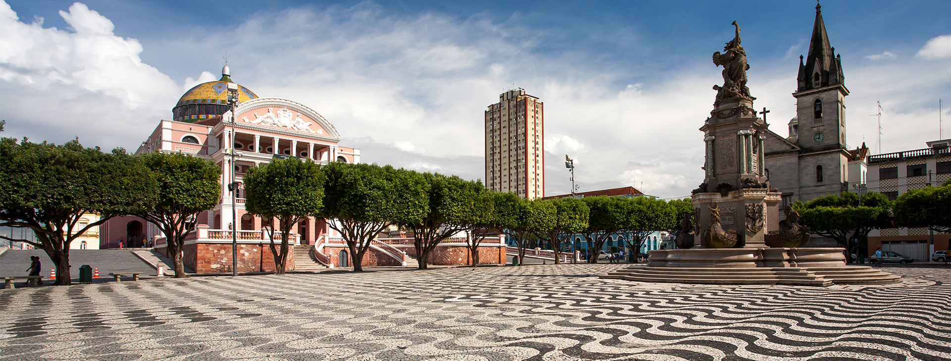 Plaza in front of Manaus Operahouse