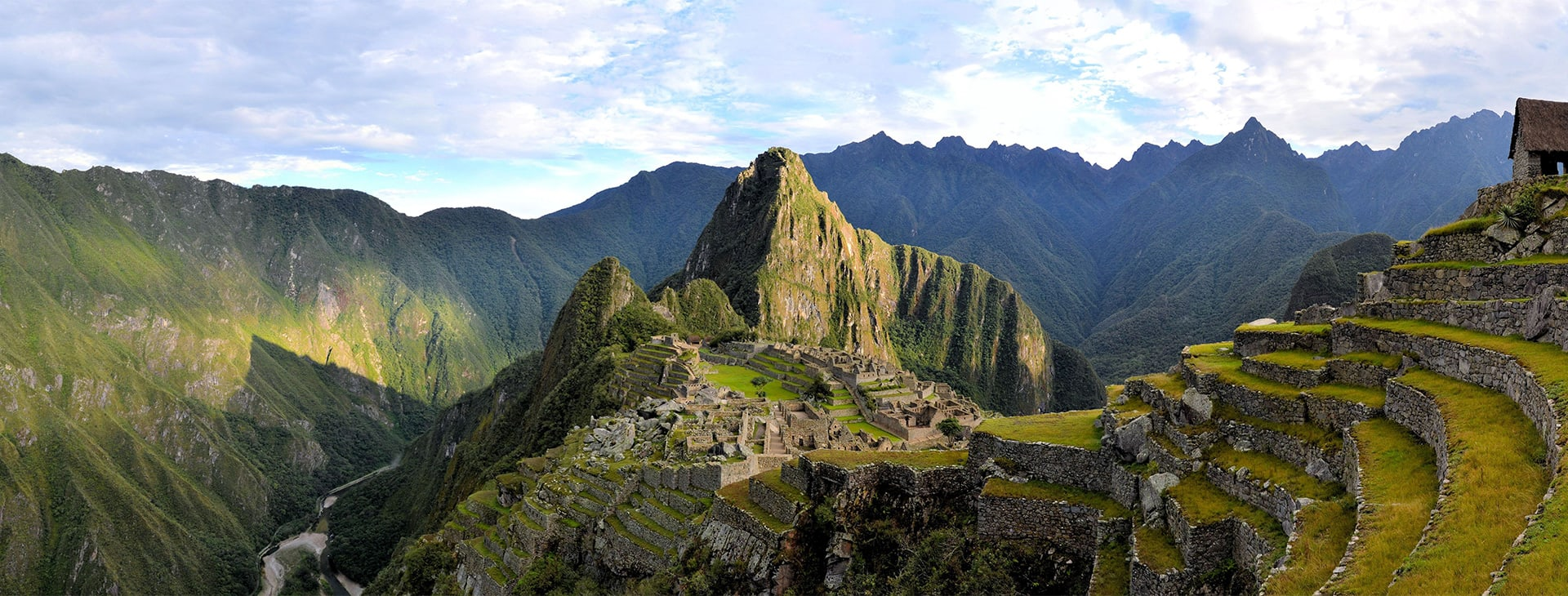 Machu Picchu with Andenes Ruins