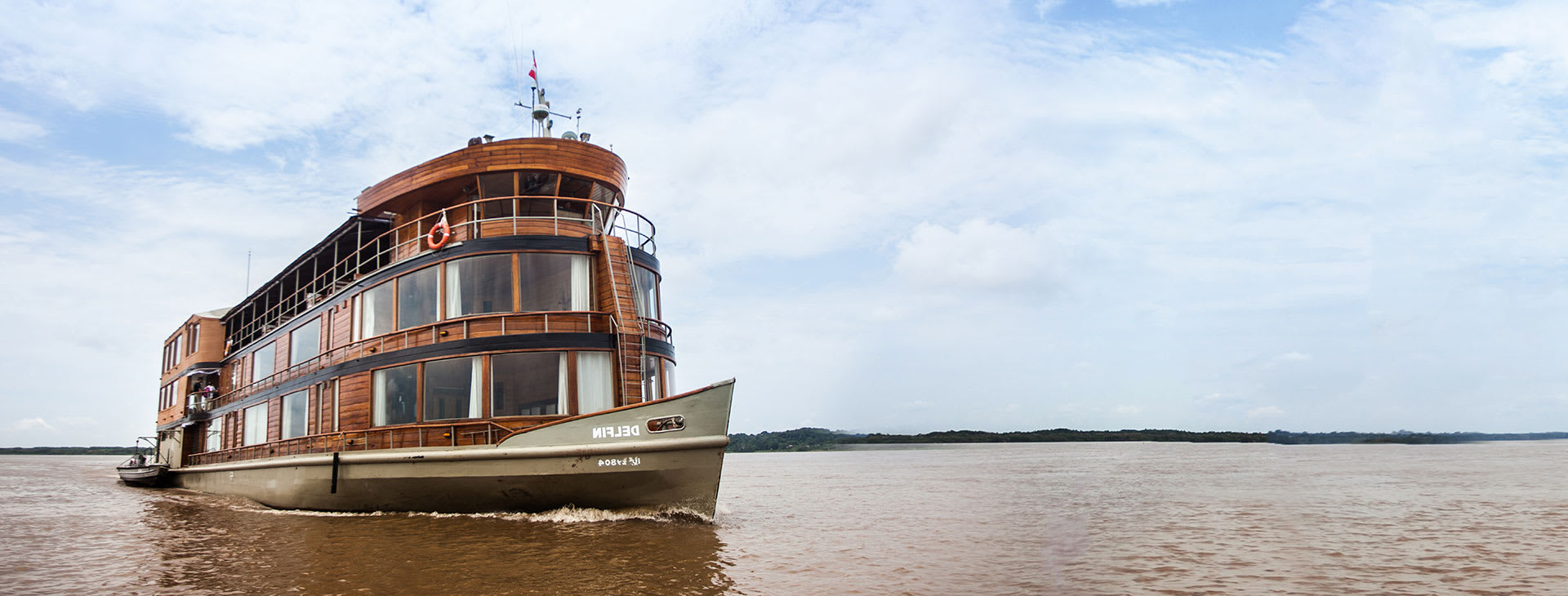 Delfin II on the Amazon river