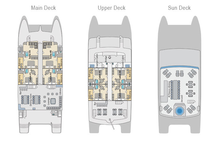 Deck plan of Cormorant