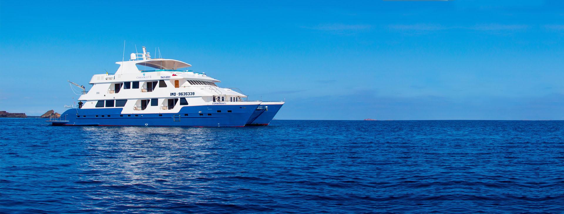 Cormorant Cruise ship at sea