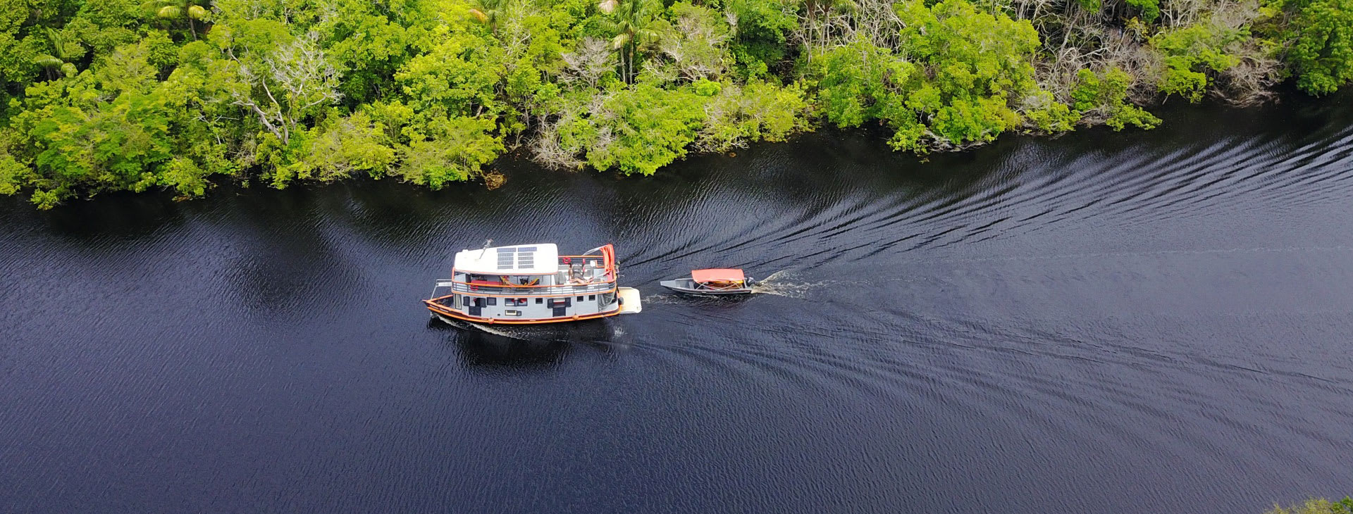Small boat on the Brazilian Amazon