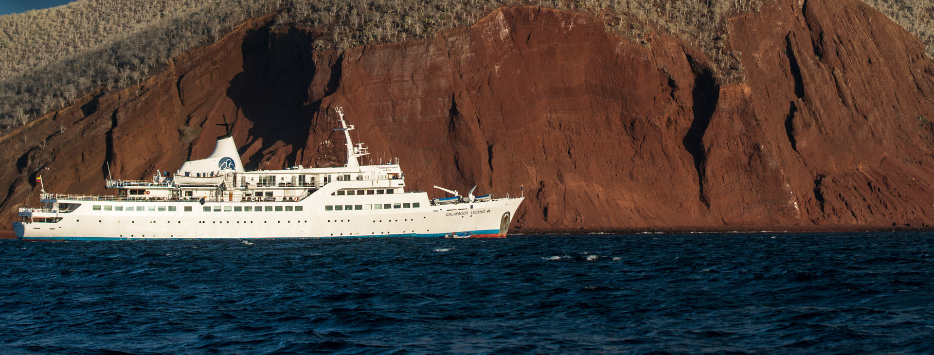 Galapagos Legend seen from the distance