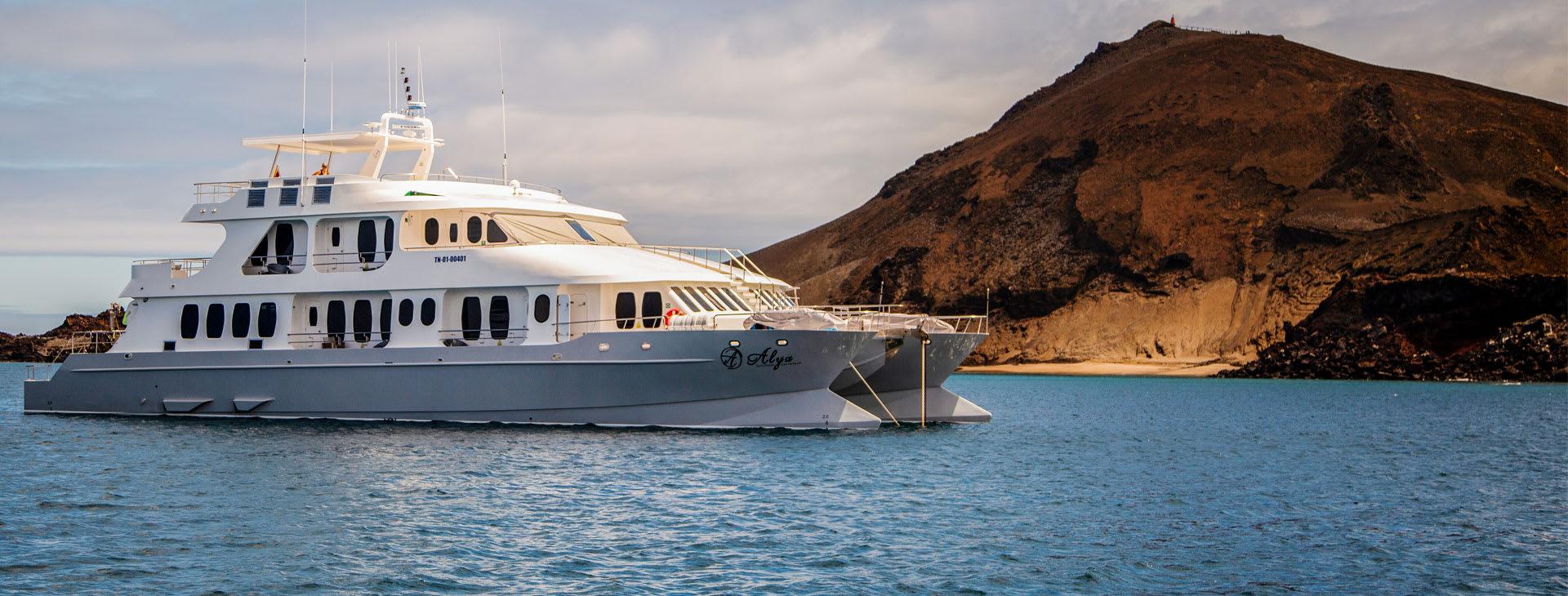 Alya ship at Galapagos