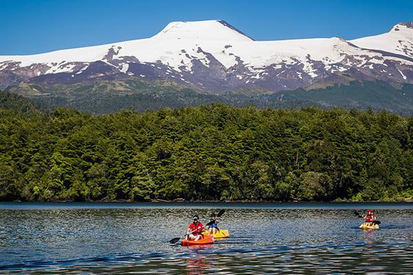 Kayaking south Chile Lake Districts