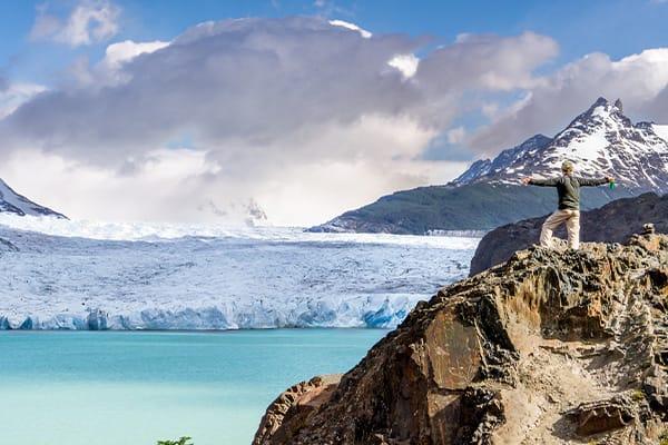 Trekking to a Glacier Grey
