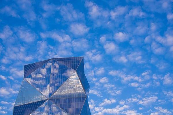 Santiago Chile Blue Skies