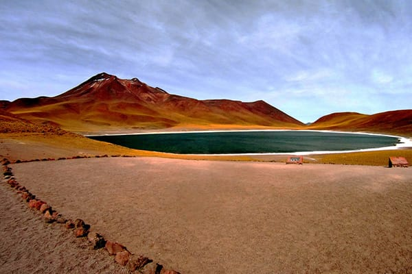 Atacama landscape with lake