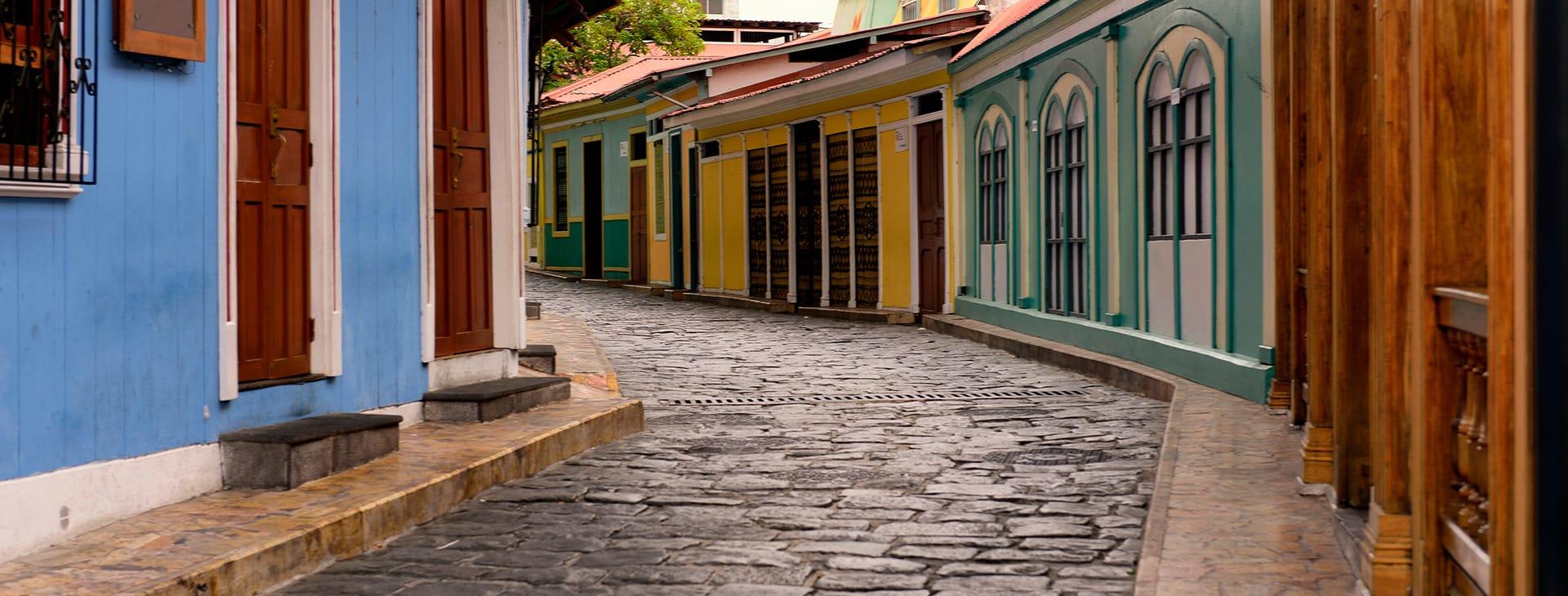 Guayaquil cobblestone streets