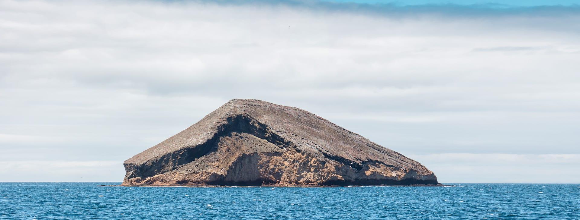 galapagos island in distance