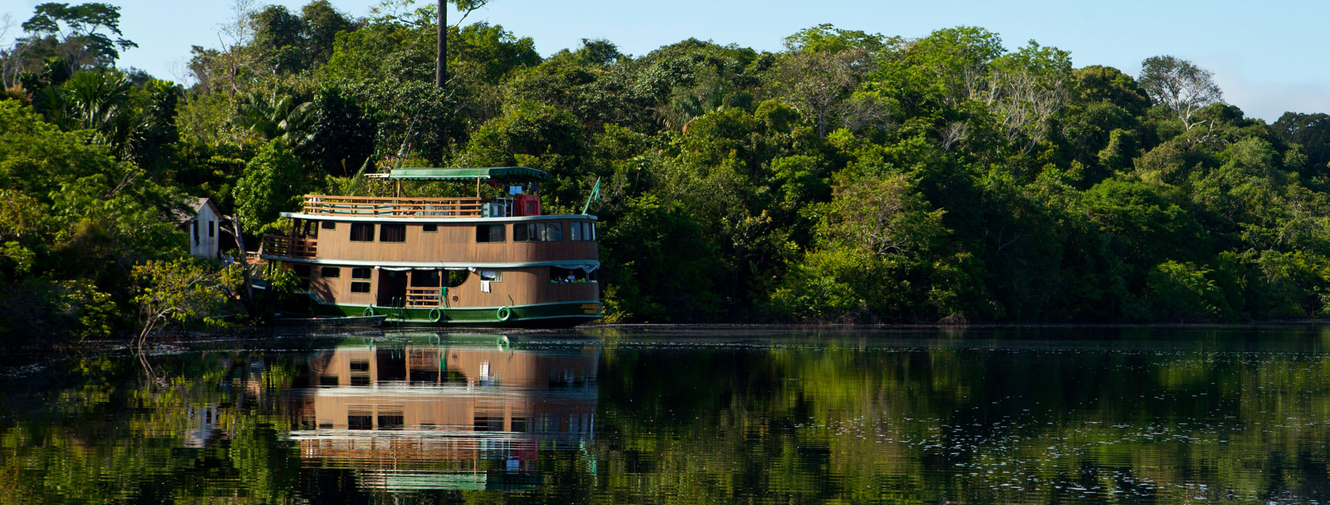 Ship on the calm river