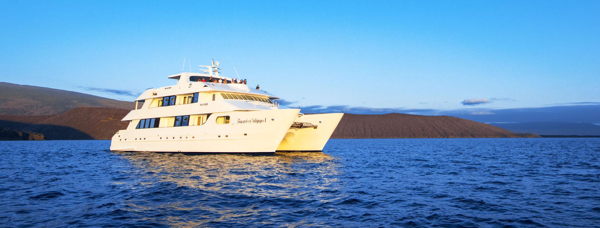 Beautiful boat at sea