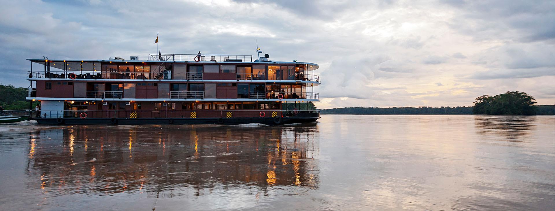 Manatee cruise ship in the Ecuadorean Amazon