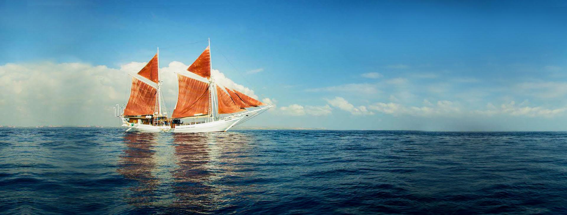 Katharina with sails up