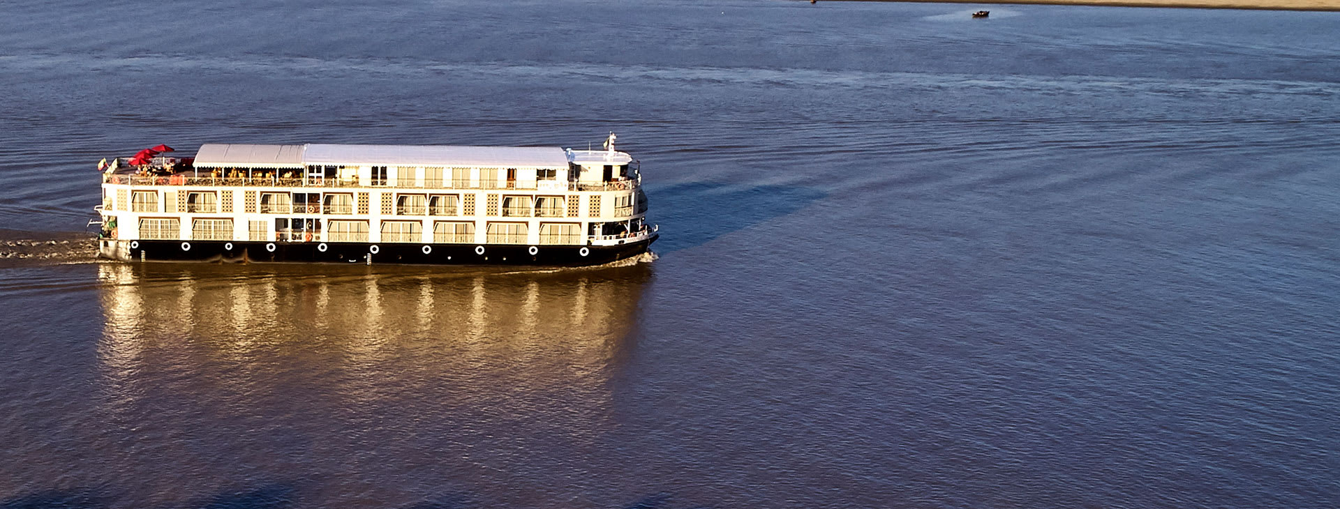 Irrawaddy Explorer on the river