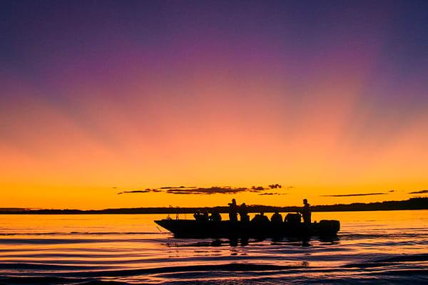 Amazon Excursion Sunset