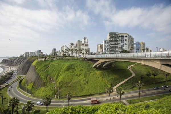 Lima city View Costa Verde