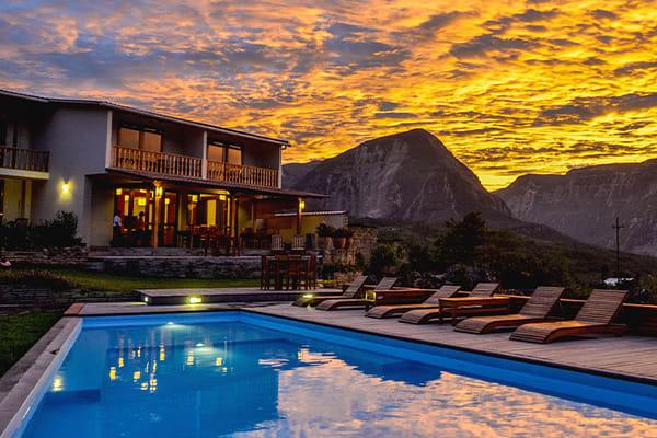 Gocta Lodge sunset Peru