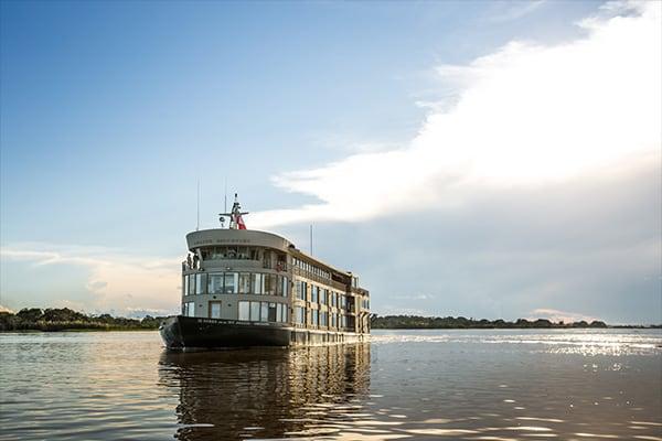 Boat Cruising Amazon River