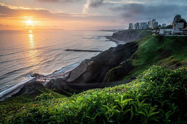 Lima Coastline Sunset