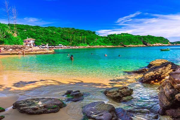 Clear water buzios beach