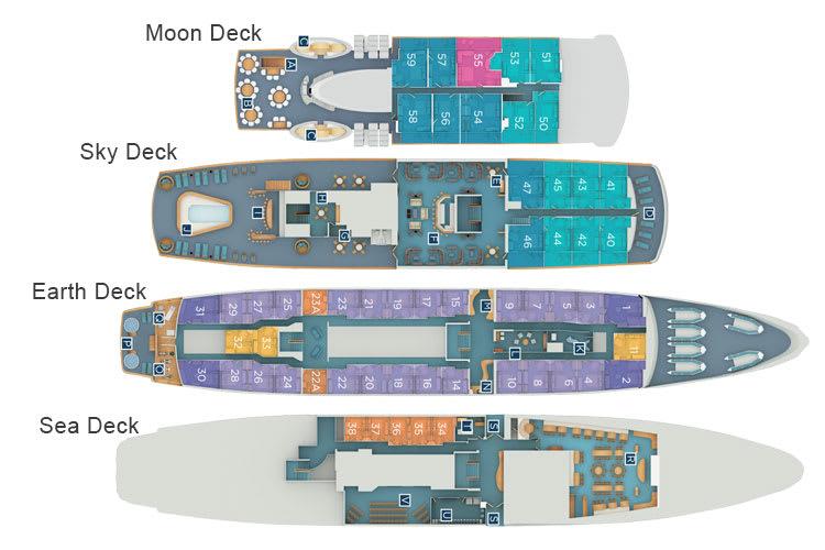 Detailed deck plan of Legend