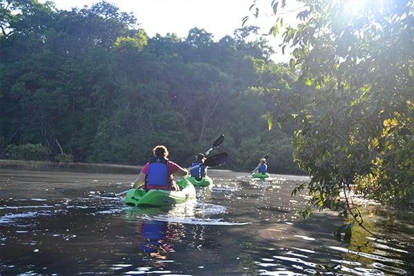 kayaking in the amazon