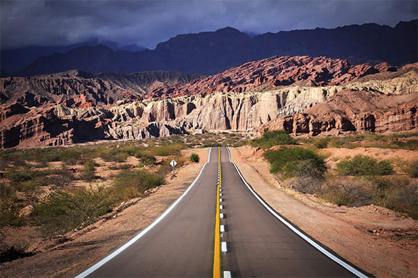 Driving to Purmamarca Argentina