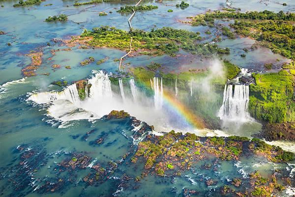 Iguazu Falls with Rainbow