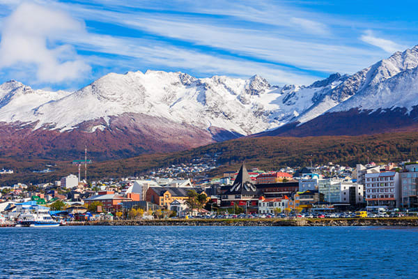 Ushuaia Town with Snowcapped Peaks behind