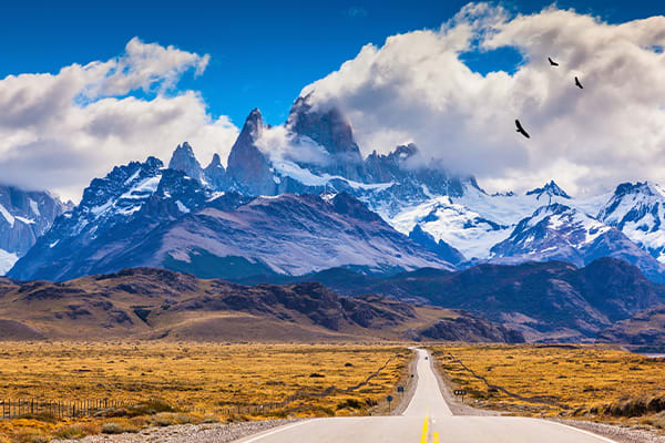 Driving towards Argentina Lakes District