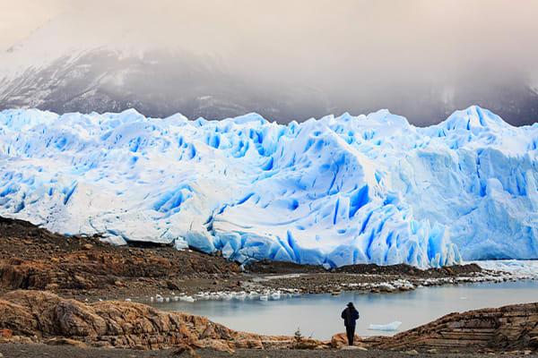 Torres Del Paine Glacier and Lake