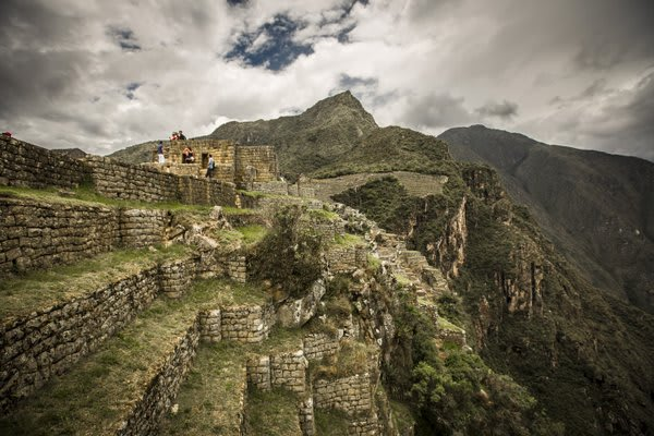 Machu Picchu With People