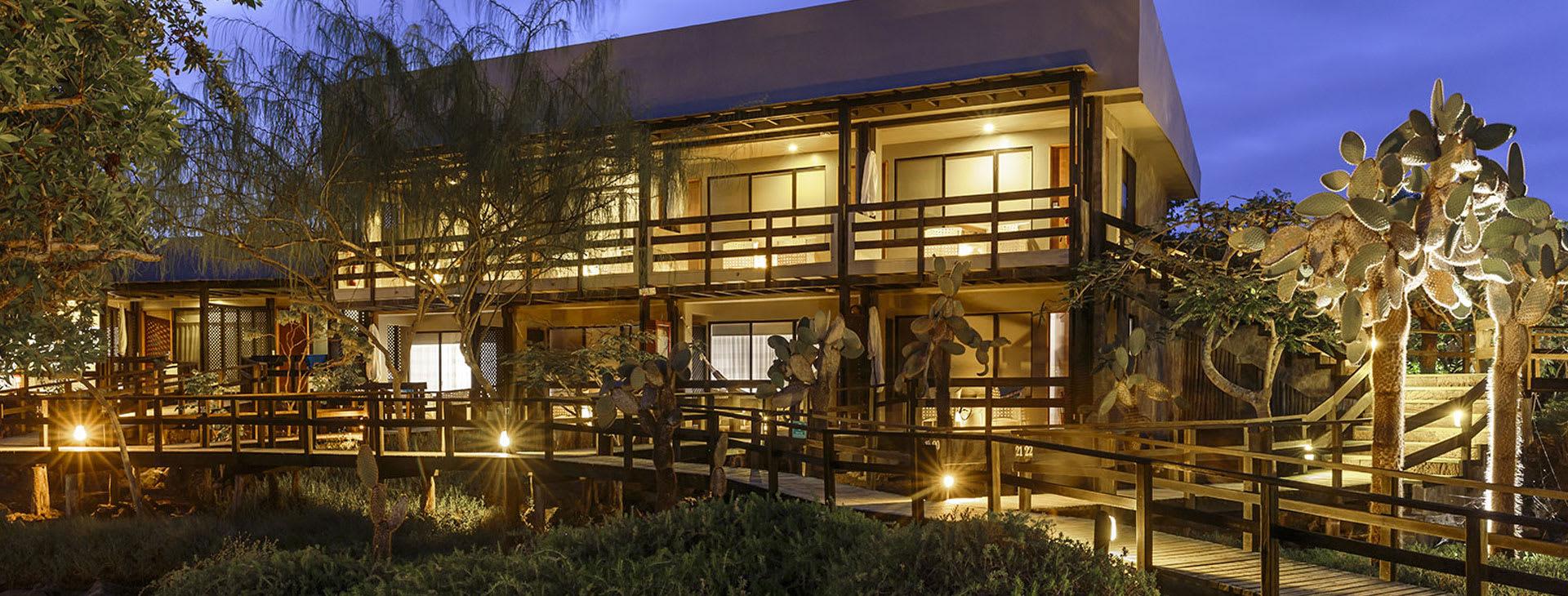 Lodge at dusk