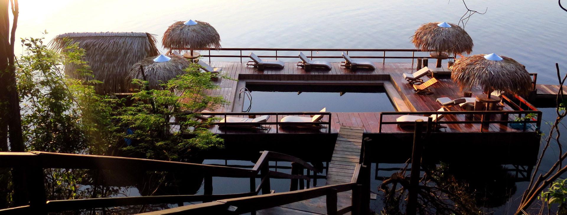 Juma Lodge terrace on stilts