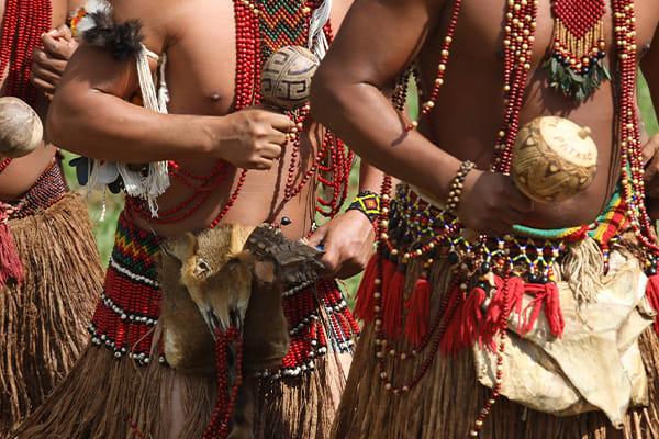 Indigenous dancing ceremony