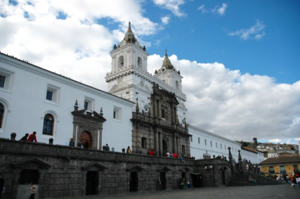 Quito colonial building and plaza