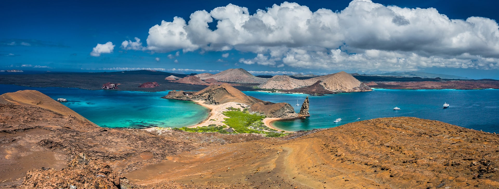 Galapagos Landscape with Pinnacle Rock