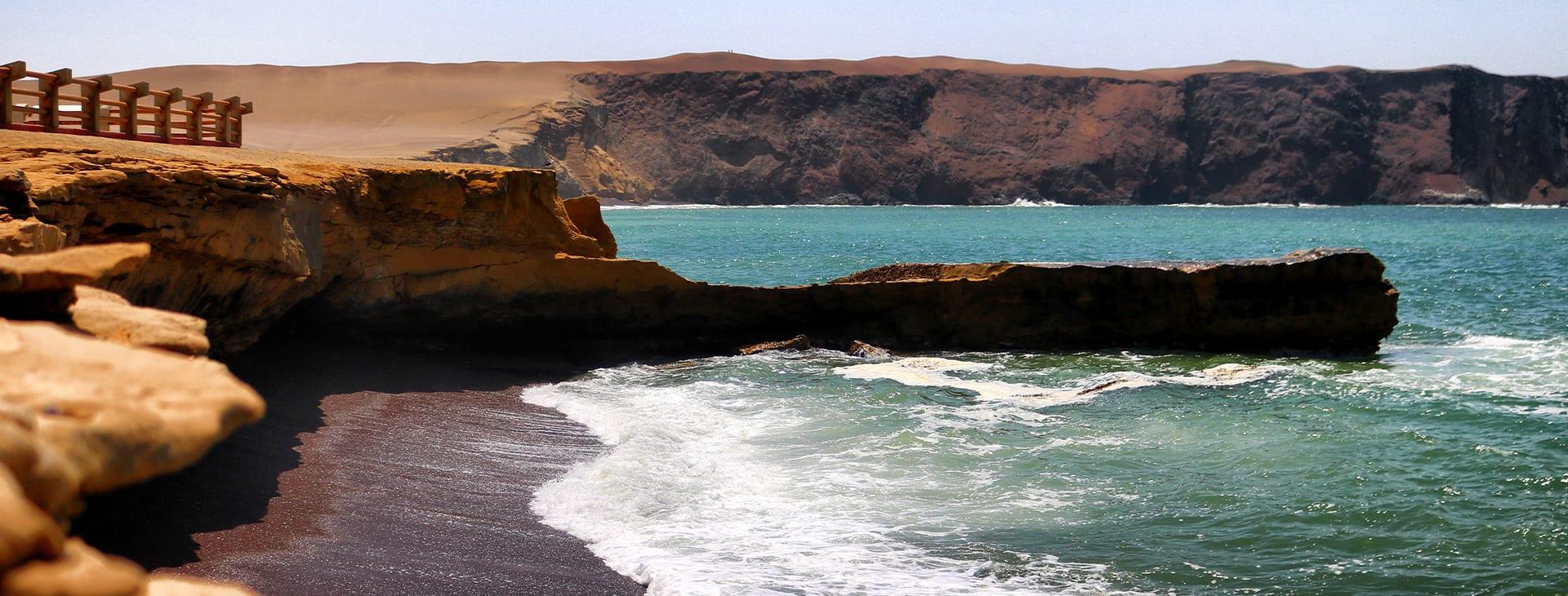 Paracas Peru Coastline with surf