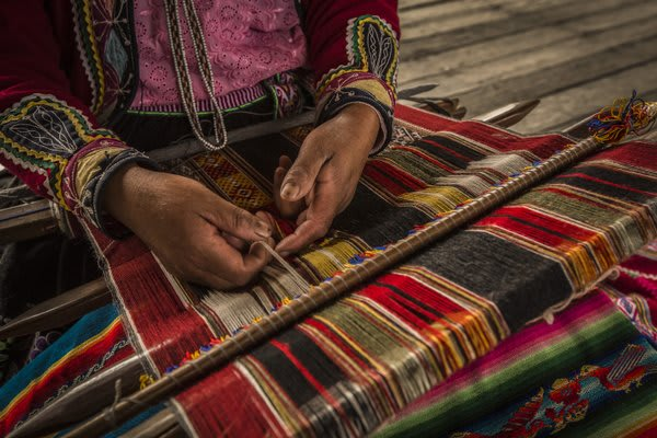 Sacred Valley Woman With Loom