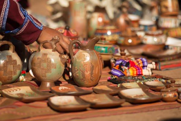 Ceramics on a table