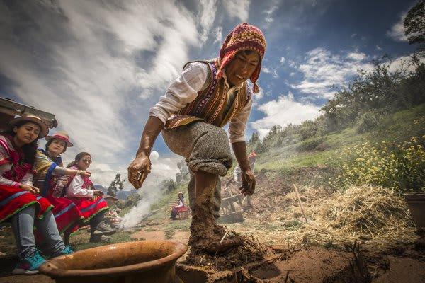 Man Stomping Mud Brick