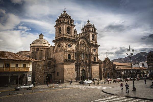 Cusco main plaza with church