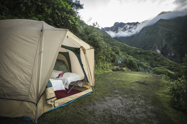 Tent Camping in the Andes Mountains
