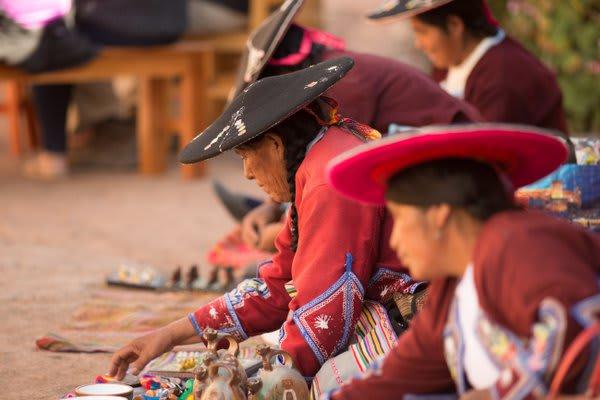 Andean Women Selling Handicrafts