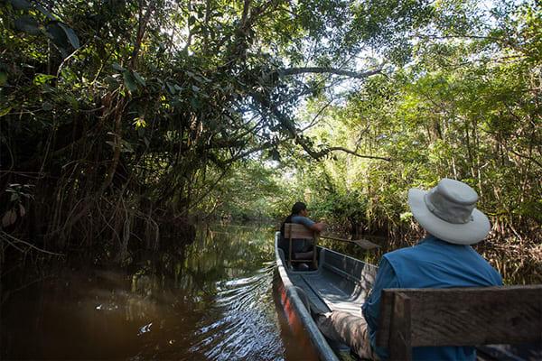 Canoe Ride through the amazon