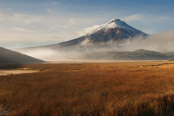 Cotopaxi Mountain with Fog