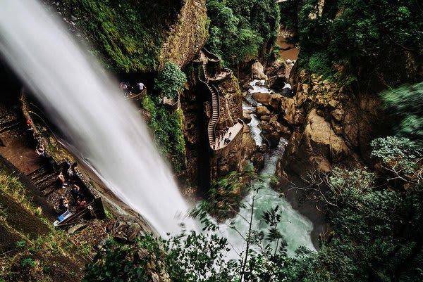 water fall and swimming hole banos ecuador