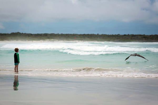 Boy on Beach Galapagos